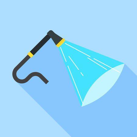 Car wash hose icon, flat style