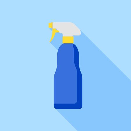 Car cleaner spray icon, flat style
