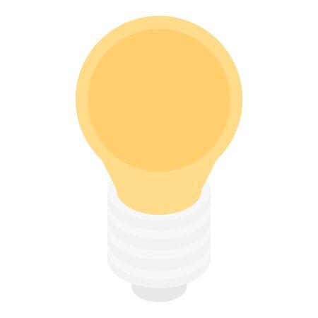 Light room bulb icon, isometric style Ilustração