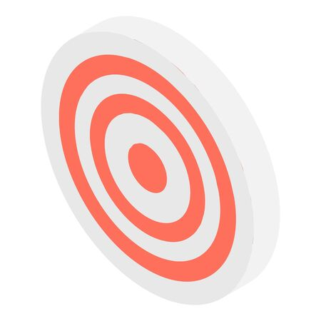 Arch target icon, isometric style