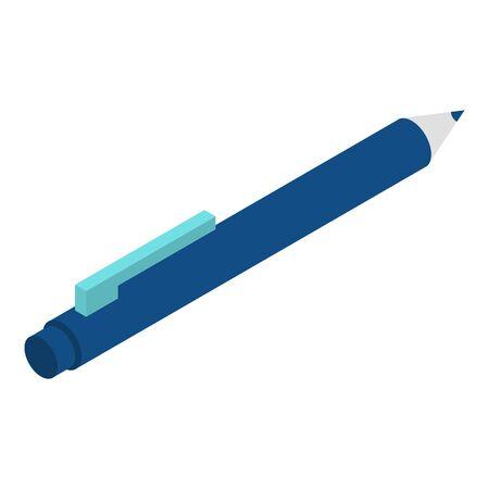 Office pen icon, isometric style