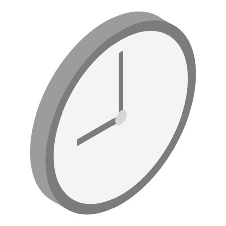 Room wall clock icon, isometric style