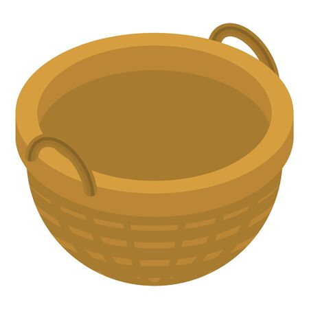 Farm wicker icon, isometric style 일러스트