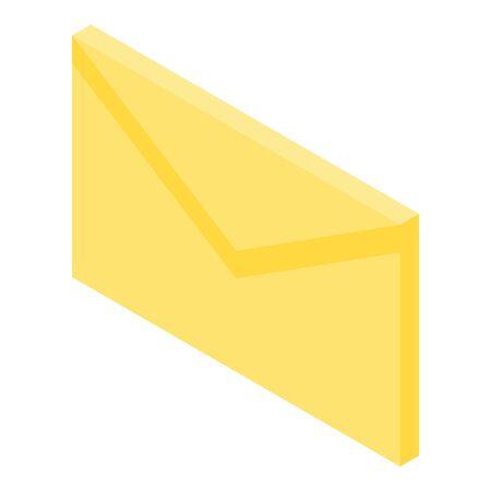 Envelope mail icon, isometric style Ilustracja