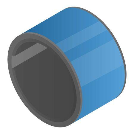 Circle flexible display icon, isometric style Vektoros illusztráció