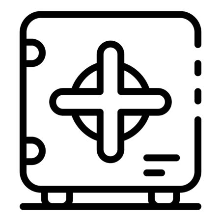 Safe icon, outline style
