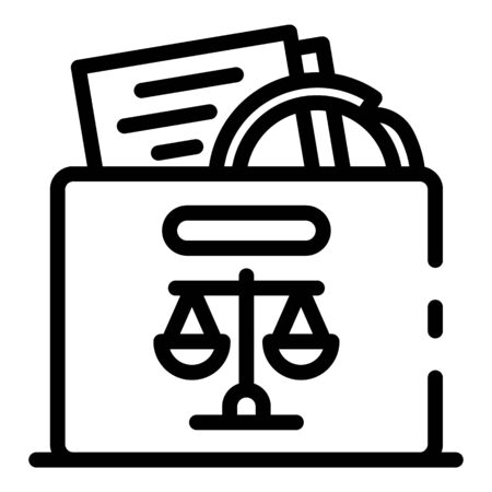 Judicial evidence icon, outline style Illustration