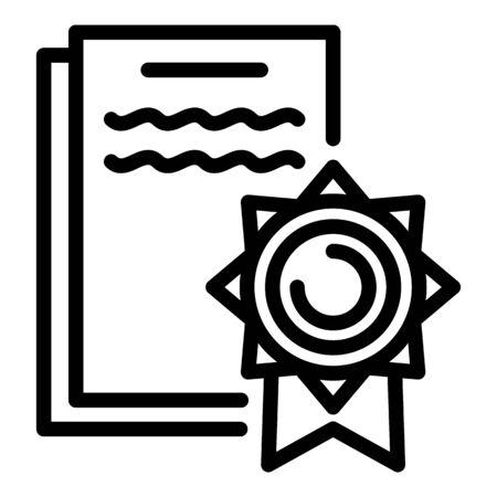 Lawsuit icon, outline style Ilustrace