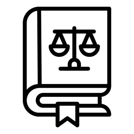 Book of laws icon, outline style