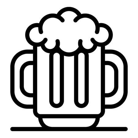Men beer mug icon, outline style