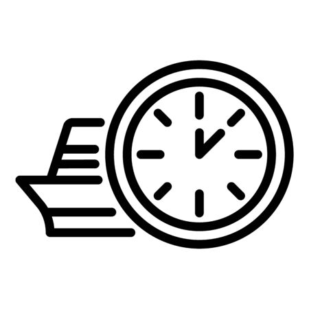 Station clock icon, outline style Stock Illustratie