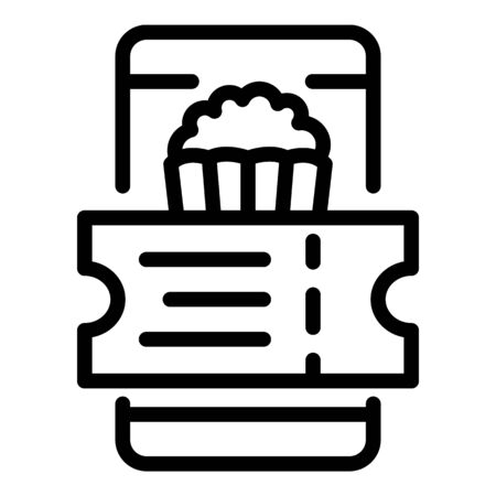 Buying a cinema ticket icon, outline style