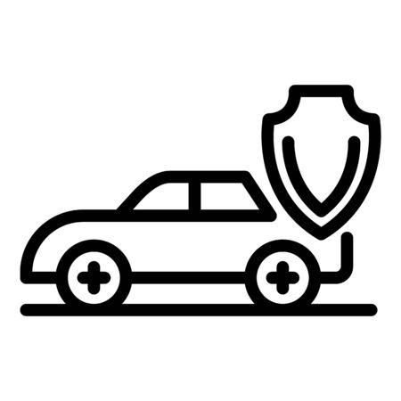 Police car icon, outline style Stok Fotoğraf - 131103743