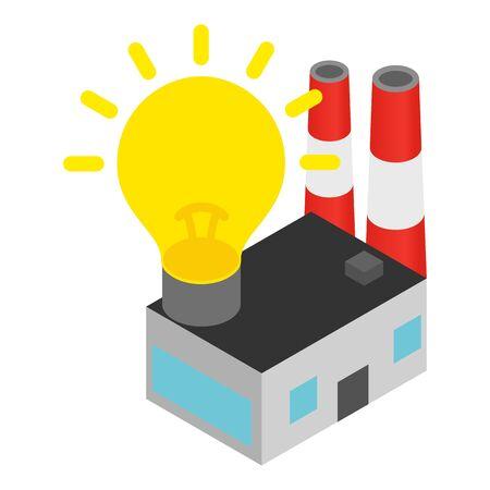 Electric power icon, isometric style 向量圖像