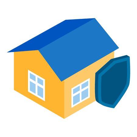 Security icon, isometric style Illustration