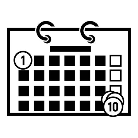 Money calendar icon, simple style
