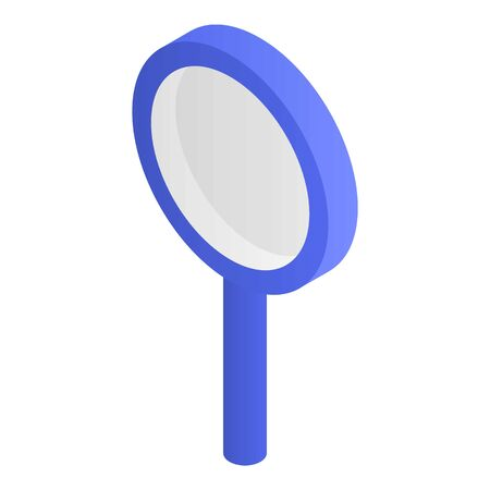 Blue magnify glass icon, isometric style  イラスト・ベクター素材