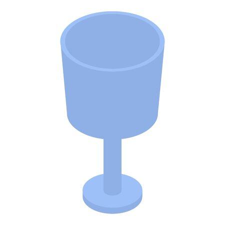 Blue glass icon, isometric style 向量圖像