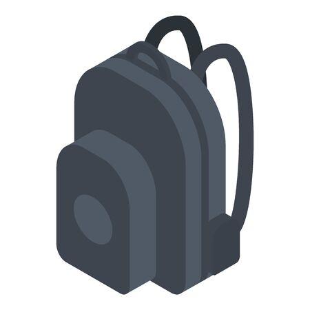 Backpack icon, isometric style