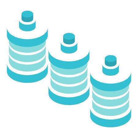 Office water bottle icon, isometric style