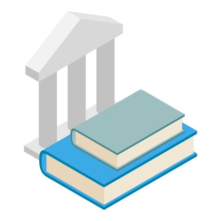 Education icon, isometric style Illustration
