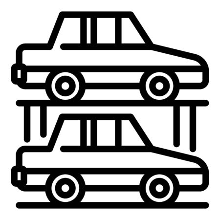 Car underground parking icon, outline style