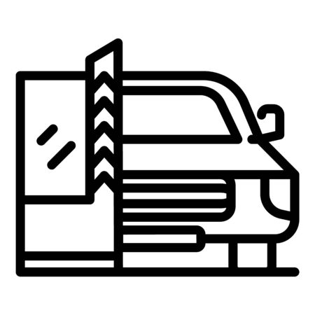 Car parking barrier icon, outline style 일러스트