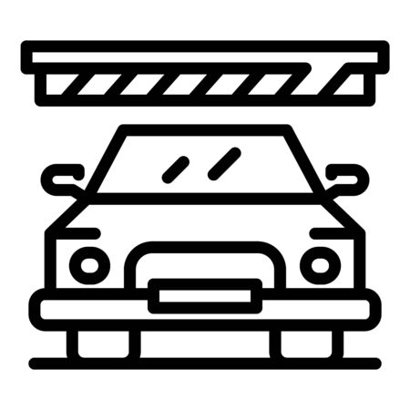 Mall car parking icon. Outline mall car parking vector icon for web design isolated on white background Illustration