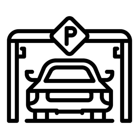 City underground parking icon. Outline city underground parking vector icon for web design isolated on white background  イラスト・ベクター素材