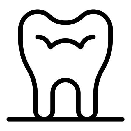 Tooth icon. Outline tooth vector icon for web design isolated on white background