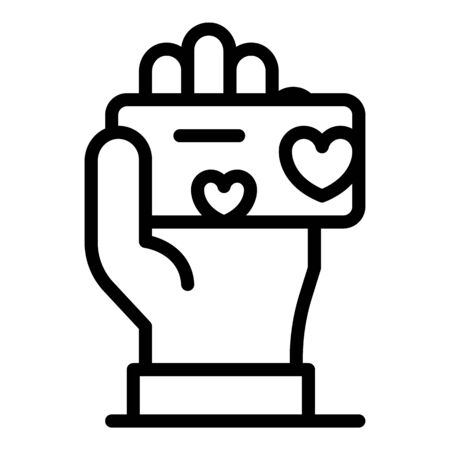 Loyalty card icon, outline style