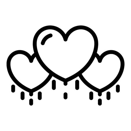 Hearts loyalty icon, outline style