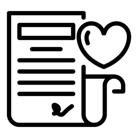 Loyalty document icon, outline style