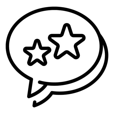 Loyalty chat icon, outline style Иллюстрация