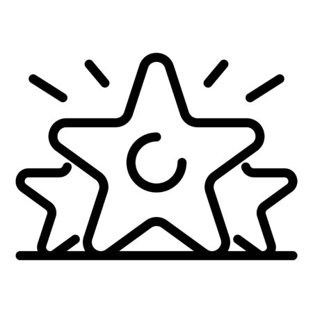 Earn star rating icon, outline style