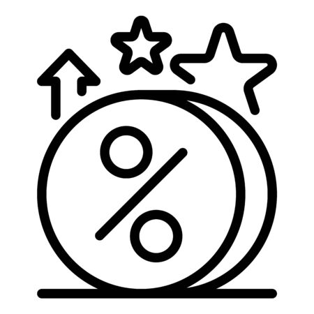 Loyalty coins icon, outline style