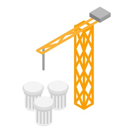 Construction icon. Isometric illustration of construction vector icon for web Ilustração