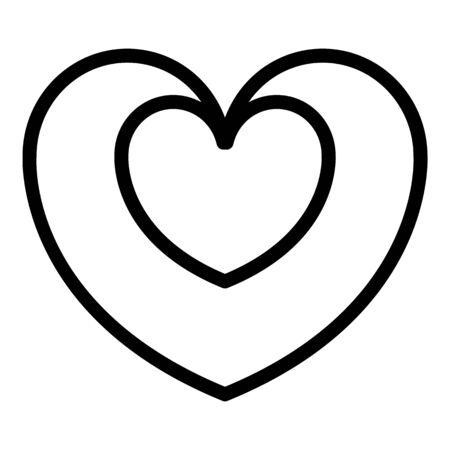 Bonus heart icon. Outline bonus heart vector icon for web design isolated on white background