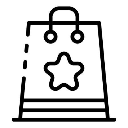 Eco award bag icon, outline style