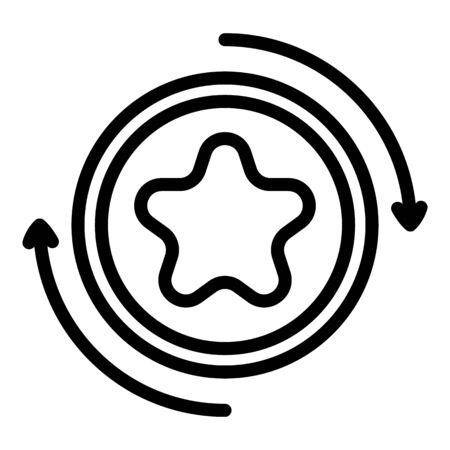 Exchange bonus icon, outline style