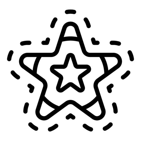 Loyalty star icon, outline style