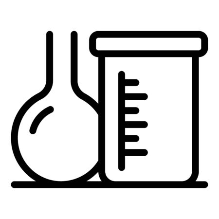 Chemical pots icon, outline style