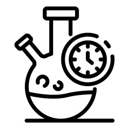 Boiled chemical pot icon, outline style Illustration