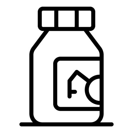 Posion bottle icon, outline style