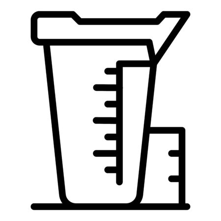 Measurement pot icon, outline style 일러스트