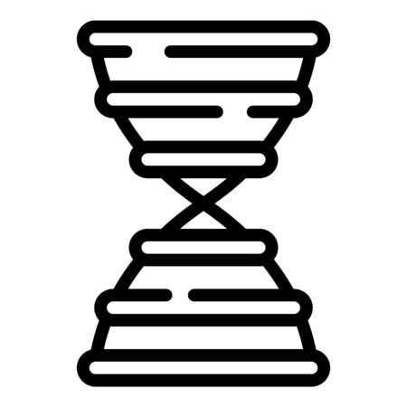 Dna icon, outline style Иллюстрация