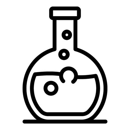 Chemical bulb icon, outline style 일러스트