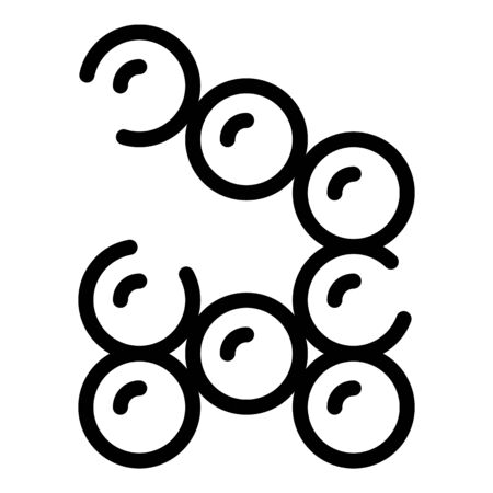 Chemical grains icon, outline style