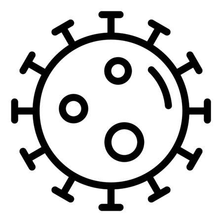 Virus icon, outline style Ilustrace