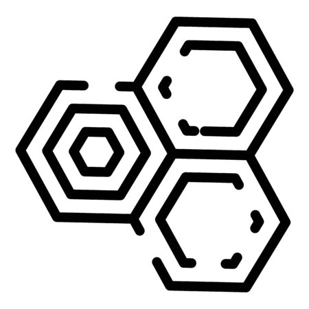Chemical cell icon, outline style